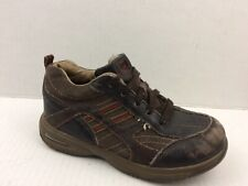Toddler Tech Boys 11 Toddler Little Kid Brown Leather Oxford Sneaker Shoe Casual