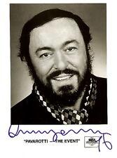 "LUCIANO PAVAROTTI opera tenor signed photo ""The Event"" 1996"