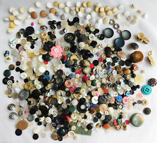 Job lot of vintage and modern buttons assorted 430g mid to late 20th-century F
