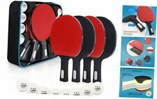 New listing Ping Pong Paddles Set, Upgraded Plastic Grip, 4-Player Table Tennis Rackets,
