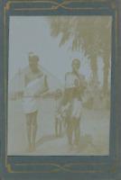 Couple indigène à l'enfant Vintage citrate print,Ensemble photographique