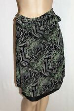Victoria Hill Women's Grey Black Mesh Lace Wrap Skirt Size 12 LIKE NEW #AN02