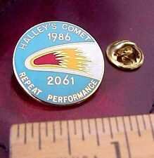 Vintage 1985 HALLEY'S COMET (1986-2061) REPEAT PERFORMANCE ASTRONOMY PIN