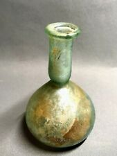 Ancient Roman Green-Blue Glass Unguent Bottle, 2nd-3rd Century Bc