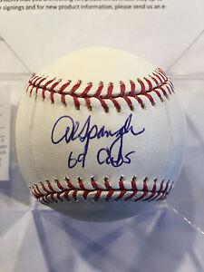 Al Spangler 1969 Chicago Cubs Signed Autographed Major League Baseball W/COA