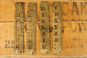"""Antique Brass Letter Stencils 1"""" Letters"""