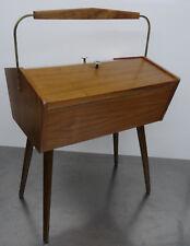 mid century modern design 60s - Nähkasten Näh Utensilien Box Nähtisch ~60er