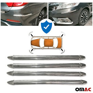 4 Pcs Front Rear Bumper Corner Protector Anti Scratch Chrome For Toyota Camry