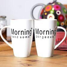 Matin tasses his & hers saint valentin imprimé thé tasses à café coeur set