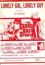"GEORGE RAFT STORY ""Lonely Gal, Lonely Guy"" Jayne Mansfield Ray Danton"