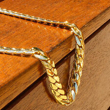 Men's 14k Gold Plated Hip Hop Miami Cuban Snake Chain 12mm 30 inches Long