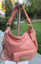 NWOT Coach Kristin Apricot Hobo/ Shoulder Convertible Bag/ Gold Tone Hardware
