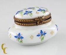 Small Limoges Peint Main Porcelain Honey Pot Ink Well Trinket Box