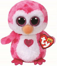 "Ty Beanie Boos 9"" Medium Valentines 2018 Juliet Penguin Plush Mwmt's Heart Tags"