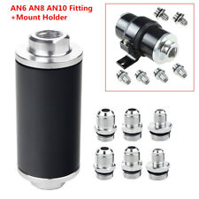 100 Micron Aluminum Alloy Car Racing Fuel Filter Cleanable AN6 AN8 AN10 Fitting