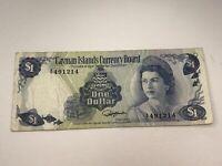 Cayman Islands 1974 $1.00 One Dollar Bill Currency Board Bank Note