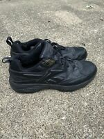 Reebok Mens Leather Athletic Walking Shoes Size 12 Black