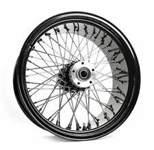 """Ultima Black Billet 18"""" X 8.5"""" 60 Spoke Rear Wheel Harley Custom 250mm Chopper"""