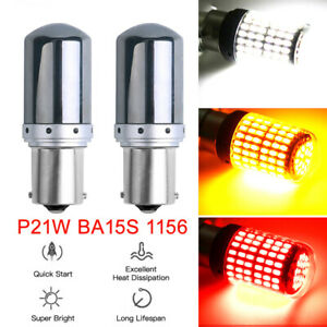 1156 LED White/Amber Canbus 3014 144SMD Error Free Car Turn Light NO Hyperflash