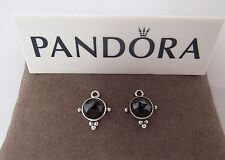 New w/Box Pandora Evening Tranquility Black Compose  Earrings 290629ME RETIRED