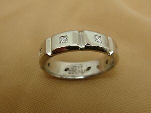 Authentic Platinum Mens Jeff Cooper DIAMOND Eternity Wedding Band Ring Size 9.75