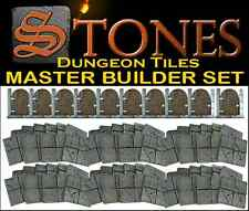 STONES MODULAR DOUBLE-SIDED DUNGEON TILES Master Builder Set Durable 70 pcs!