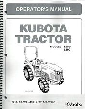 Kubota L3301 L3901 Tractor + LA525 Loader Operators' Manuals TC620-19733 (Pair)