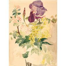 Wooden Jigsaw Puzzles 500 PCS Flower Piece Iris Laburnum Geranium Edouard Manet