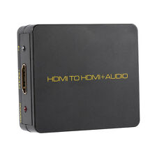 HDMI to HDMI 3.5mm Stereo Audio Converter Extractor 1080P For Blu-ray Laptop PC