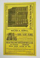 1882 Boston Massachusetts Print Advertisement Derby Desk Durell Amsden Furniture