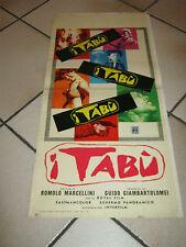 LOCANDINA  I TABU'  ROMOLO MARCELLINI MONDO MOVIE,1 EDIZIONE 1963