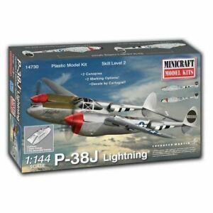 Minicraft 1/144 P-38J Lightning with 2 marking options USAAF 8th AF Plastic Mode