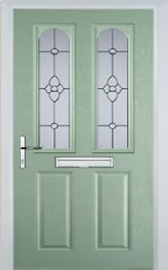 2 Panel 2 Arch Finesse Composite Front Door in Chartwell Green Various sizes