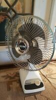 Vintage Electric Fan Oscillating Panasonic F-9200A Translucent Blade 3 Speed
