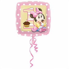 """MINNIE MOUSE 1ST BIRTHDAY PARTY SUPPLIES 18"""" BABY GIRL FOIL BALLOON"""