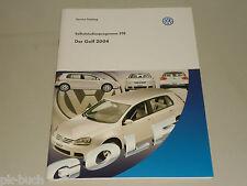 SSP 318 VW Selbststudienprogramm Service Training Der Golf 2004 5