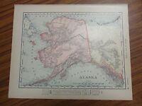 Nice colored map of the Alaska pub. 1907 Universal Atlas of the World
