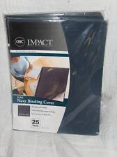GBC Impact Solid Navy Binding Cover 25 COUNT OVERSIZED 8 3/4 X 11 1/4 Free Ship