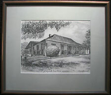 Australian Cedric Emanuel sketch print titled 'Elizabeth Farm House Parramatta'.