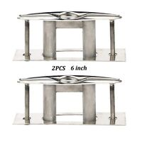 2x Flush Mount Boat 316 Stainless Steel Pull Up Cleat 6'' Marine Amarine-made US