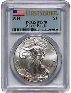 2014 Silver American Eagle - MS-70 PCGS - First Strike