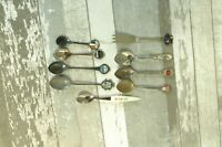 LOT OF 9 ANTIQUE SOUVENIR SPOONS VERY COOL ALL ONE MONEY