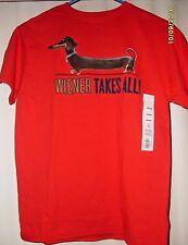 "M, L or XL Kids Sizes ""Wiener Takes All"" Dachshund Secret Life of Pets Shirt NWT"