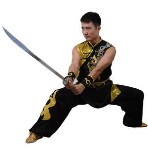 Sleeveless Kung Fu Tai Chi Uniform Martial Arts Nanquan Suit Dragon Embroidery