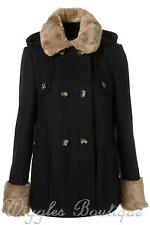 Topshop Hip Length Outdoor Button Coats & Jackets for Women