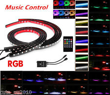 8 Colors RGB LED Strips Under Car Tube Underglow Underbody Music Control Lights