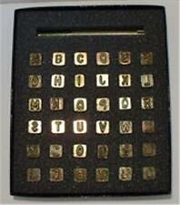 Leather Embossing Stamps Block Alphabet & Number Set 1/4 inch Worldwide posting