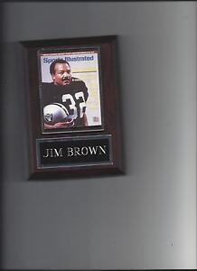 JIM BROWN PLAQUE OAKLAND RAIDERS LA FOOTBALL NFL MAG. PHOTO PLAQUE