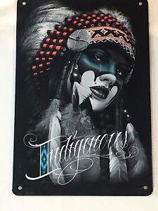 "Indigenous 8"" x 12"" Metal Sign ~ David Gonzales Art ~ Beautiful Woman"