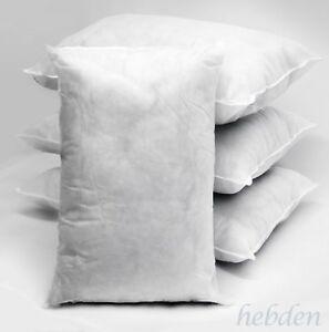 Rectangular Oblong Boudoir Hollowfibre Cushion Inserts Fillers Pads Pack of 10